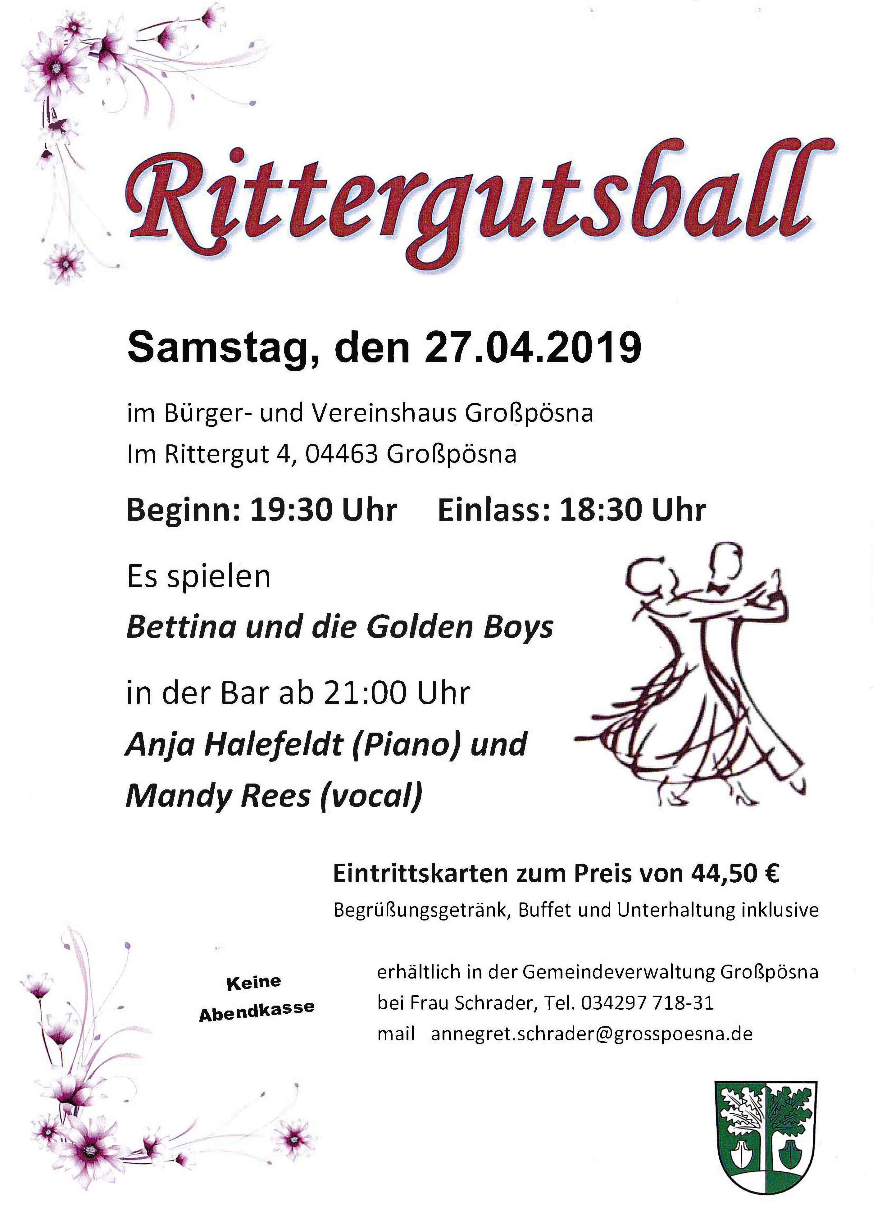 Plakat Rittergutsball