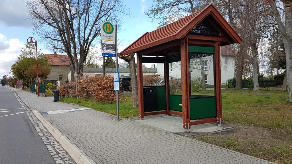Barrierefreie Bushaltestellen in der Gemeinde Großpösna