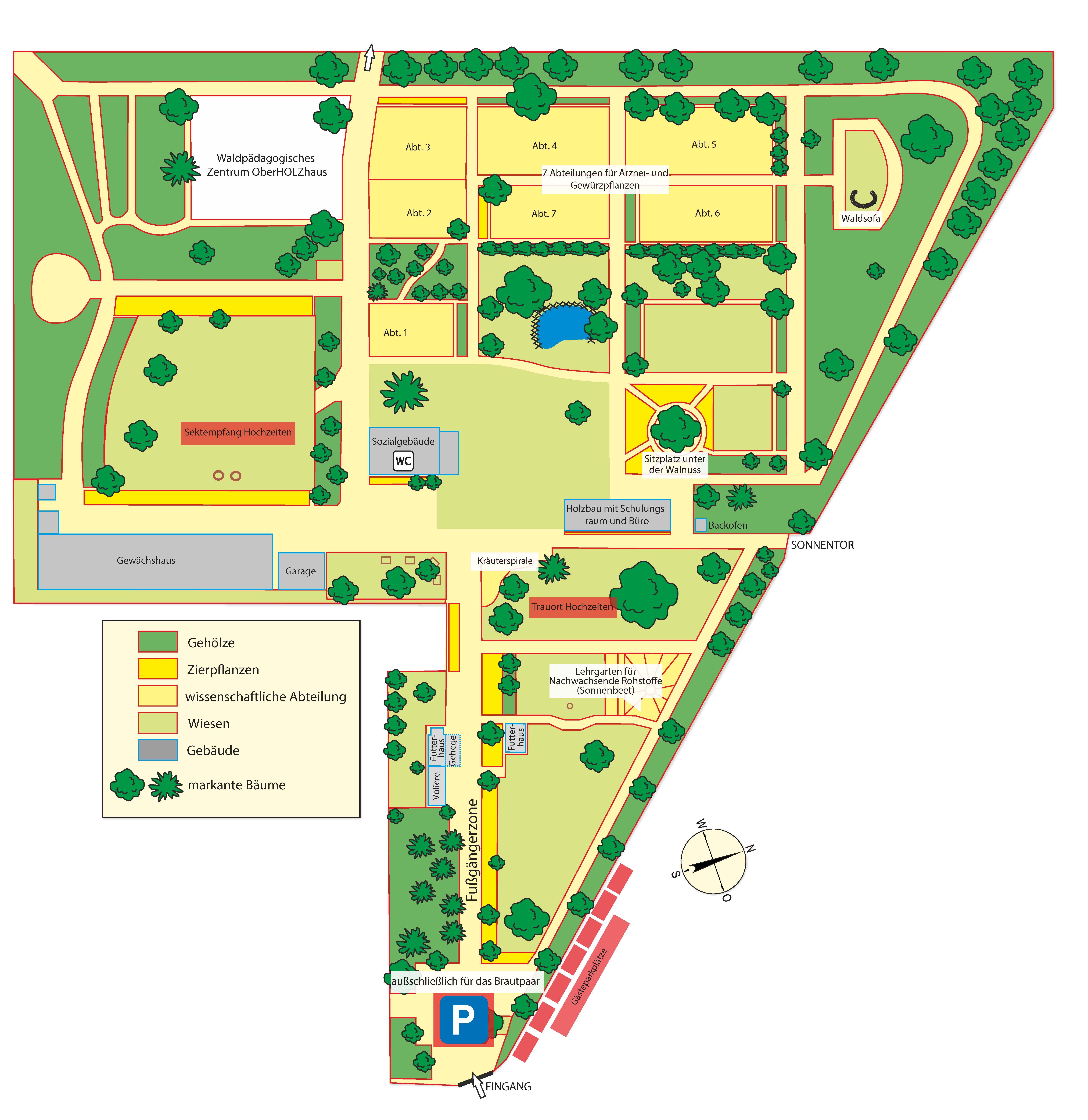 Grafik Gartenplan